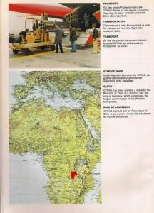 Lage des OTRAG-Testgeländes in Zaire