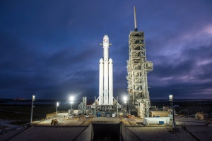 Falcon Heavy auf dem Launchpad 39a