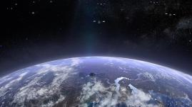 Die OneWeb-Konstellation wird sich in polaren Orbits bewegen, so dass die erde sich unter ihr hindurchdreht. Quelle: OneWeb