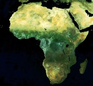Mosaik-Bild des afrikanischen Kontinents. Bild: ESA