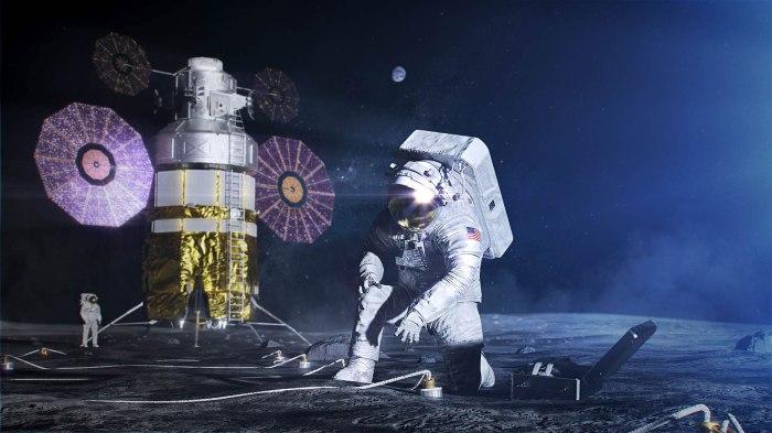 Die NASA hat für ihre Mondlandung Mitte der Zwanziger Jahre private Anbieter von Mondlandefähren ausgesucht. Bild: NASA