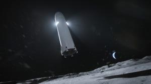 """Das gigantische Raumschiff """"Starship"""" wurde von der NASA für das Artermis-Programm als eine von drei Landefähren ausgewählt. Bild: SpaceX"""